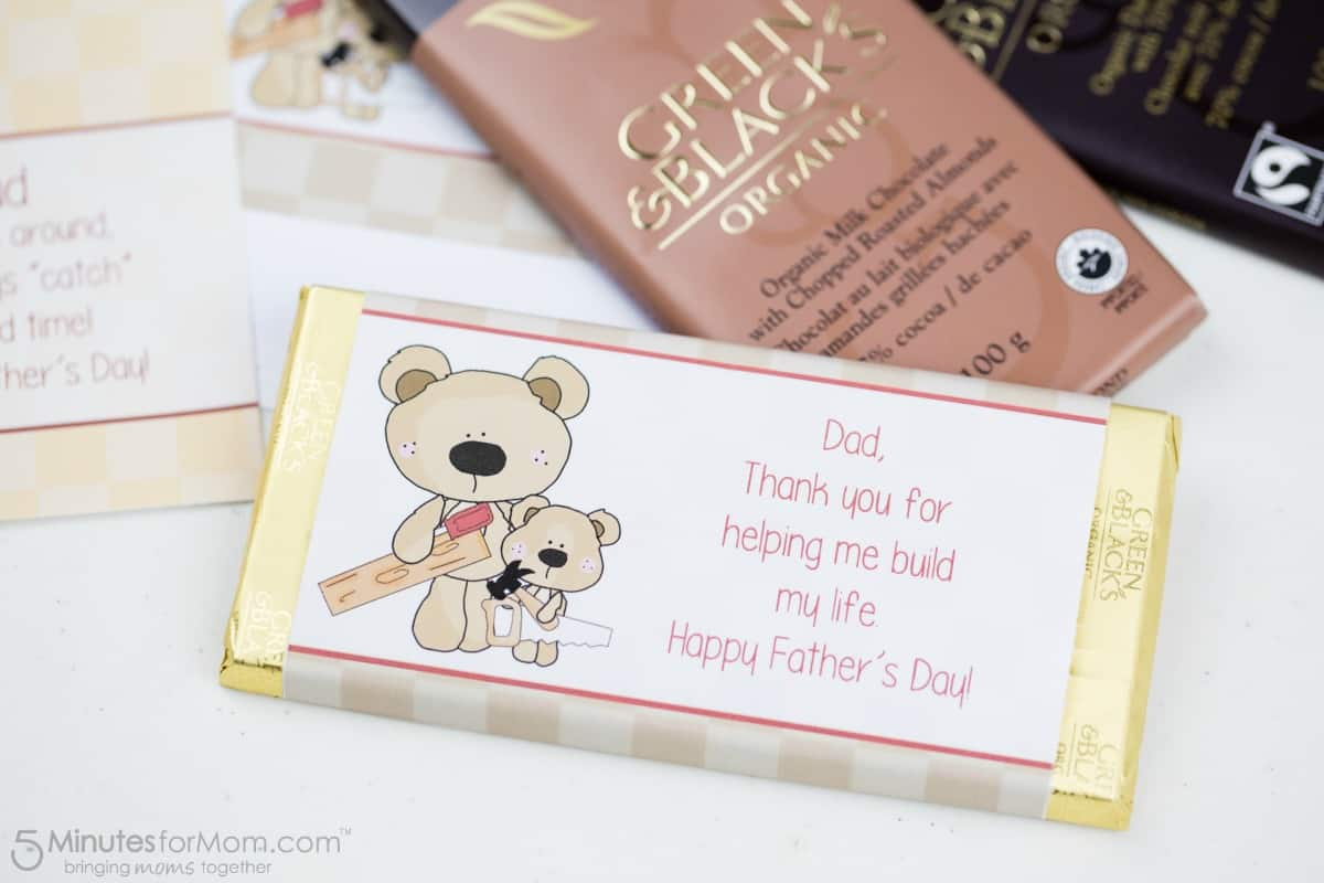 Fathers Day Candy Wrapper - Thank You