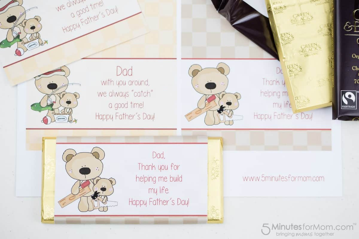 Fathers Day Printables - Candy Bar Wrappers