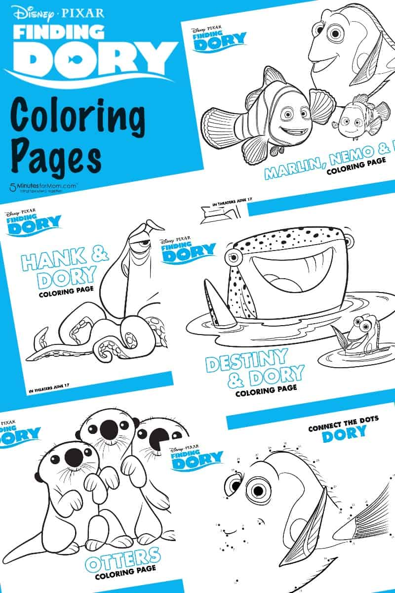 Finding Dory Free Printables - Recipes, Coloring Pages and ...