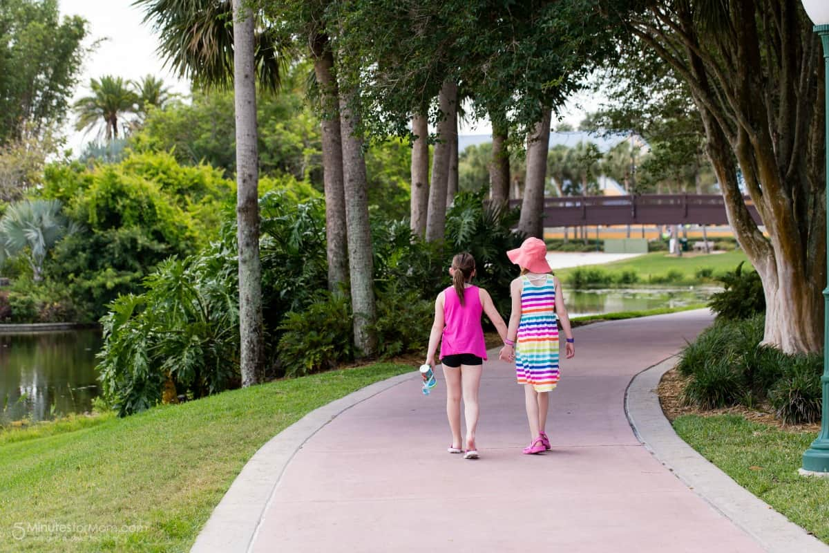 Walking together at Disney World