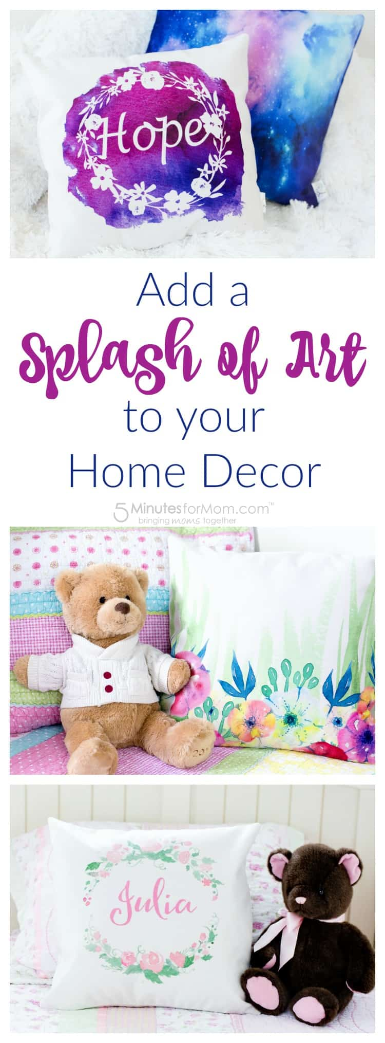 Add a splash of art to your home decor
