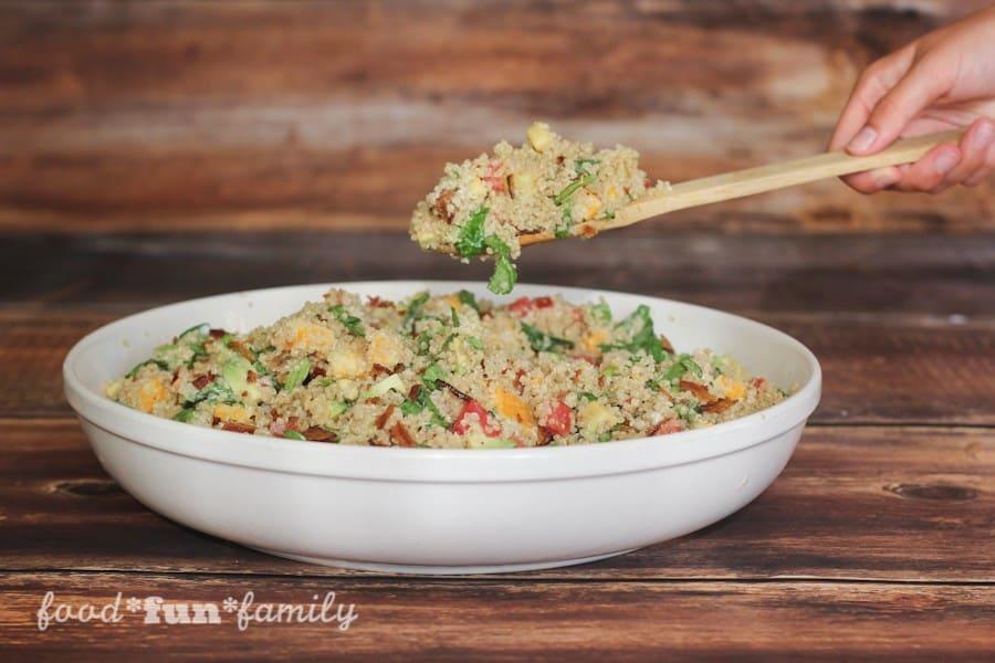 Avocado Bacon Ranch Quinoa Salad