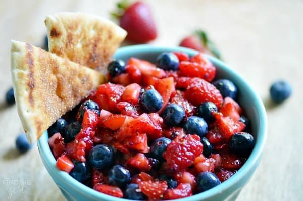 Berry Fruit Salsa from Finding Zest