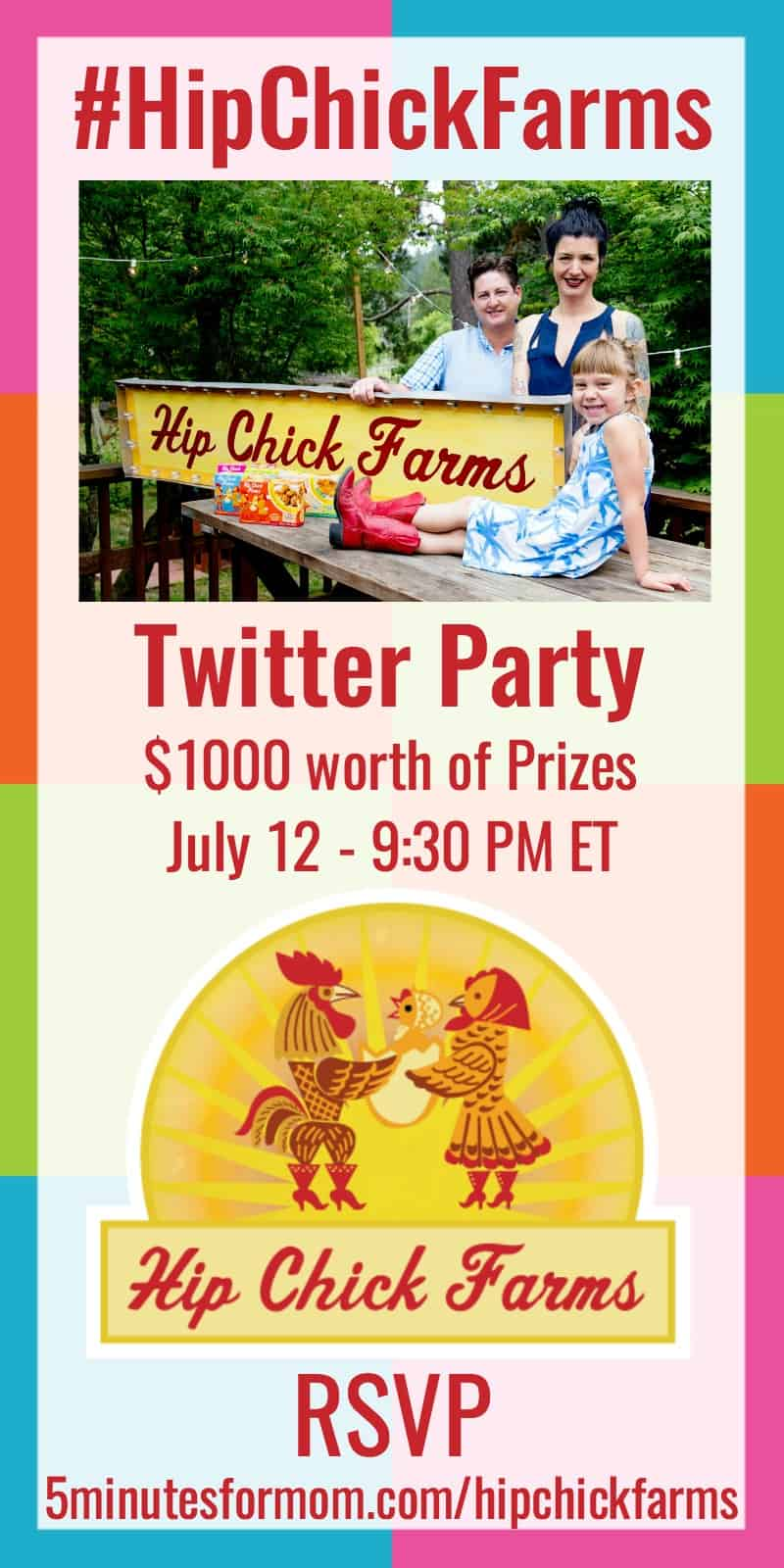HipChickFarms Twitter Party Announcement