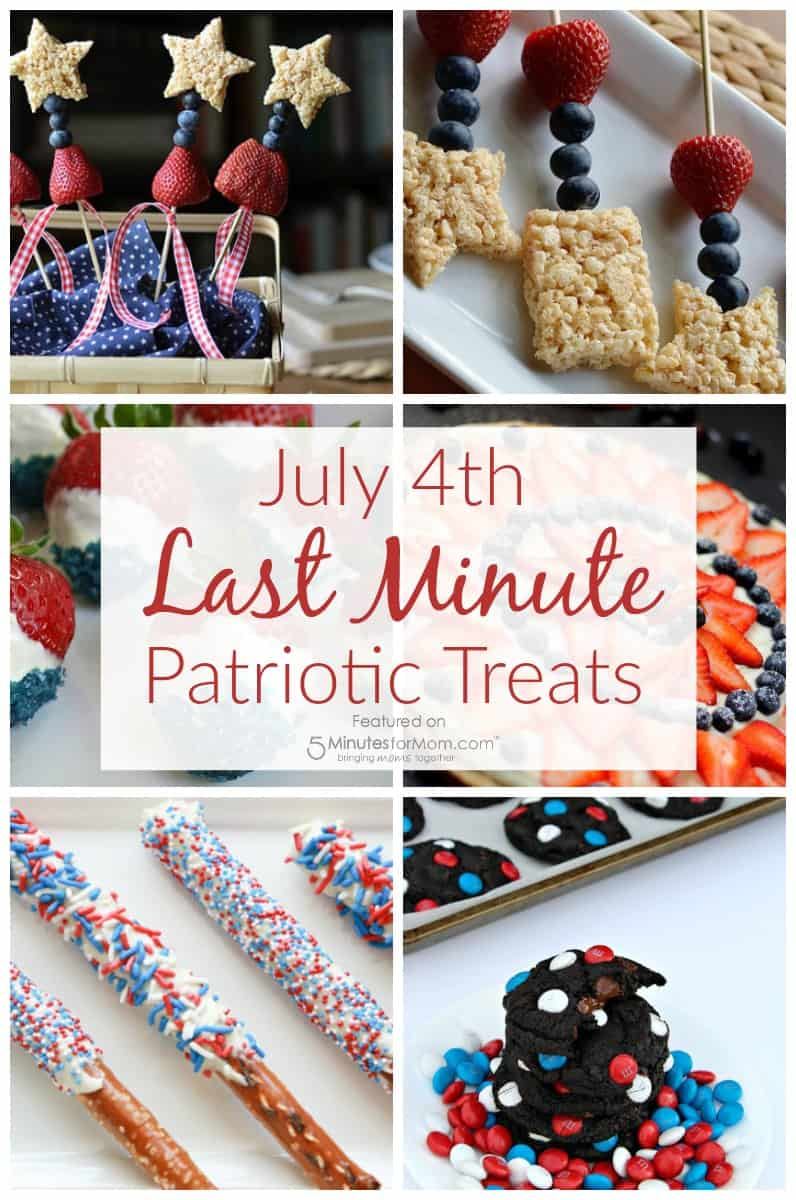 July 4th Last Minute Patriotic Treats