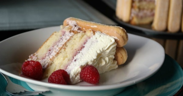 Raspberry Charlotte Cake from TOTS Family