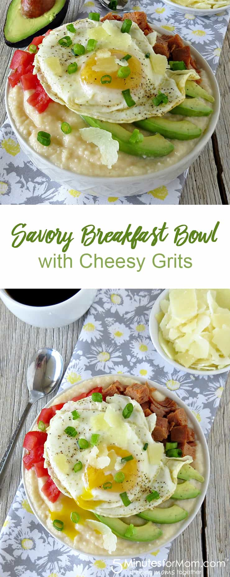 Savory Breakfast Bowl with Cheesy Grits