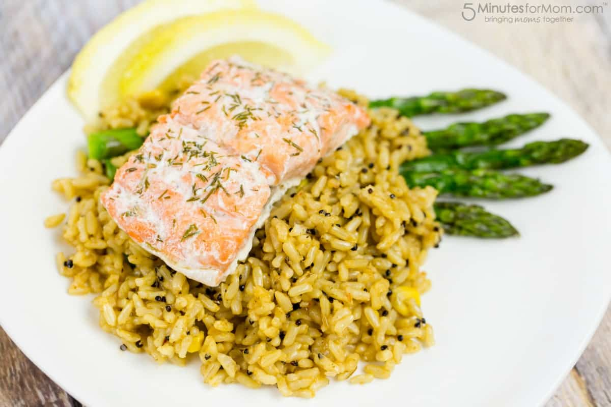 Spanish Style Rice and Salmon