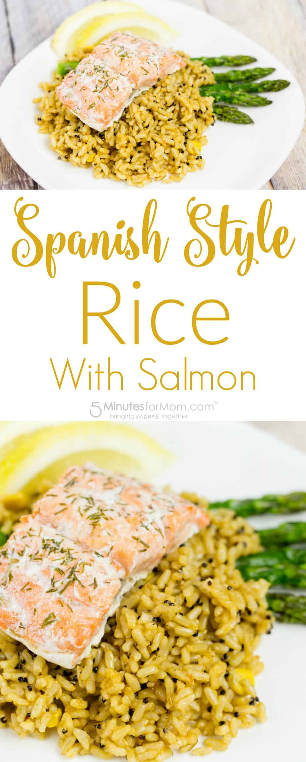 Spanish Style Rice with Salmon