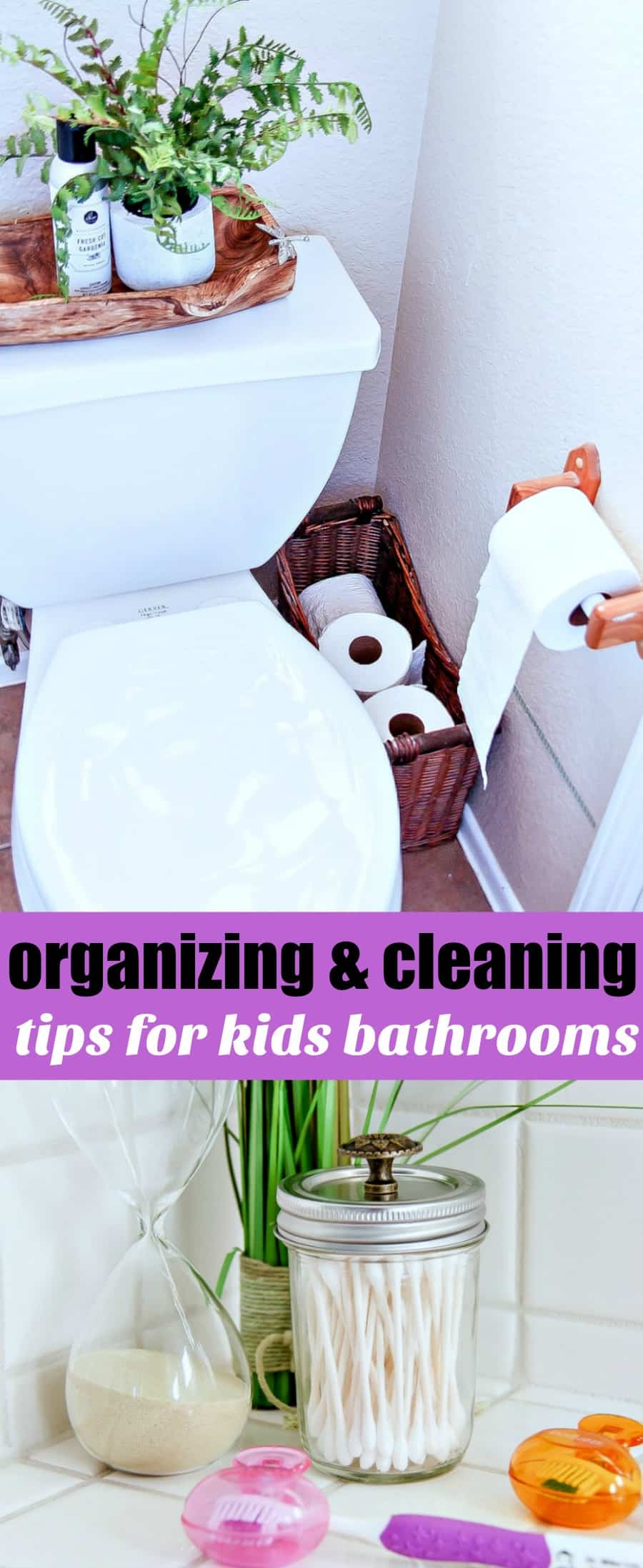 Tips for organizing and cleaning elemetnary aged kids bathrooms