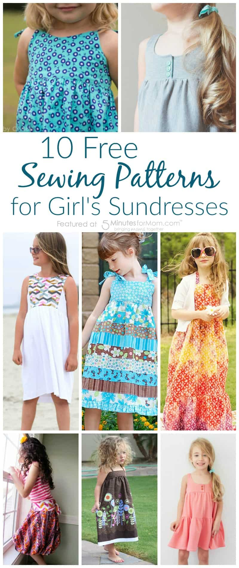 10 free sewing patterns for girls sundresses 5 minutes for mom 10 free sewing patterns for girls sundresses jeuxipadfo Images