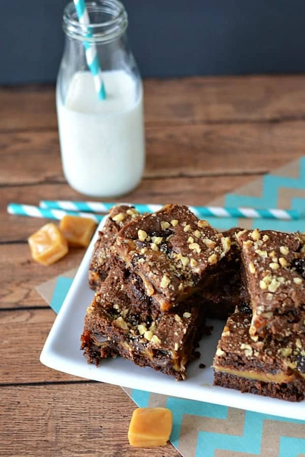 Caramel Brownies from A Cultivated Nest