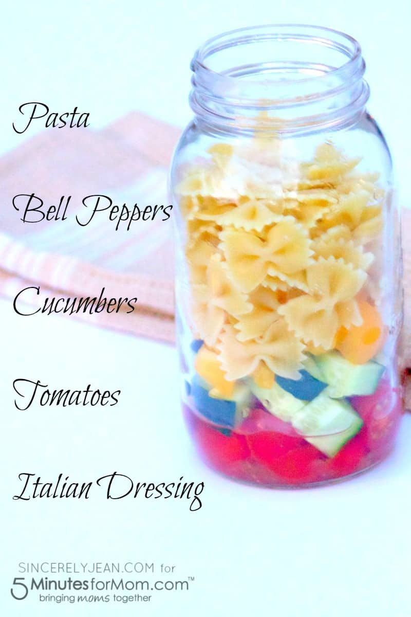 Pasta Salad Mason Jar Lunch