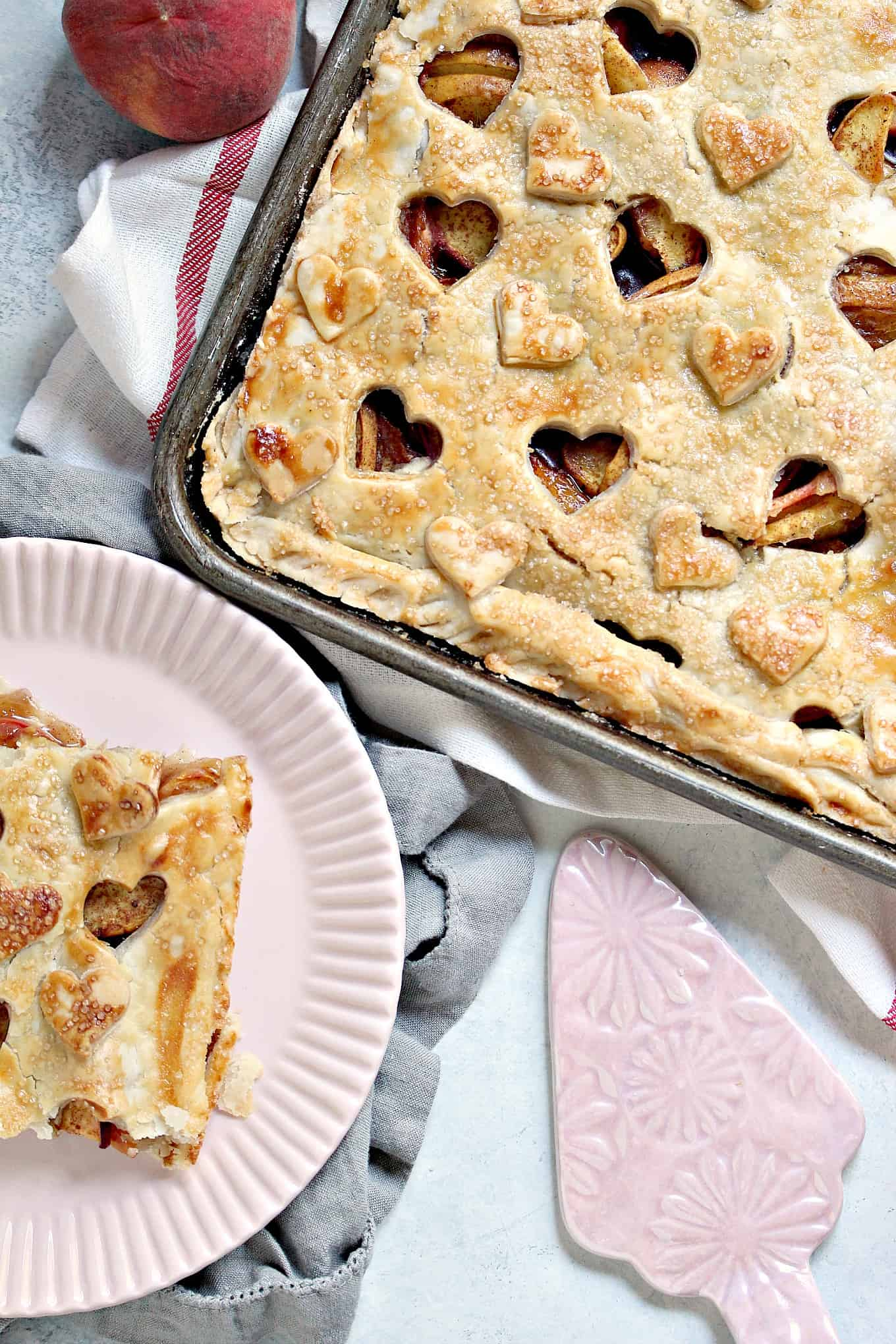 Rustic Peach Slab Pie