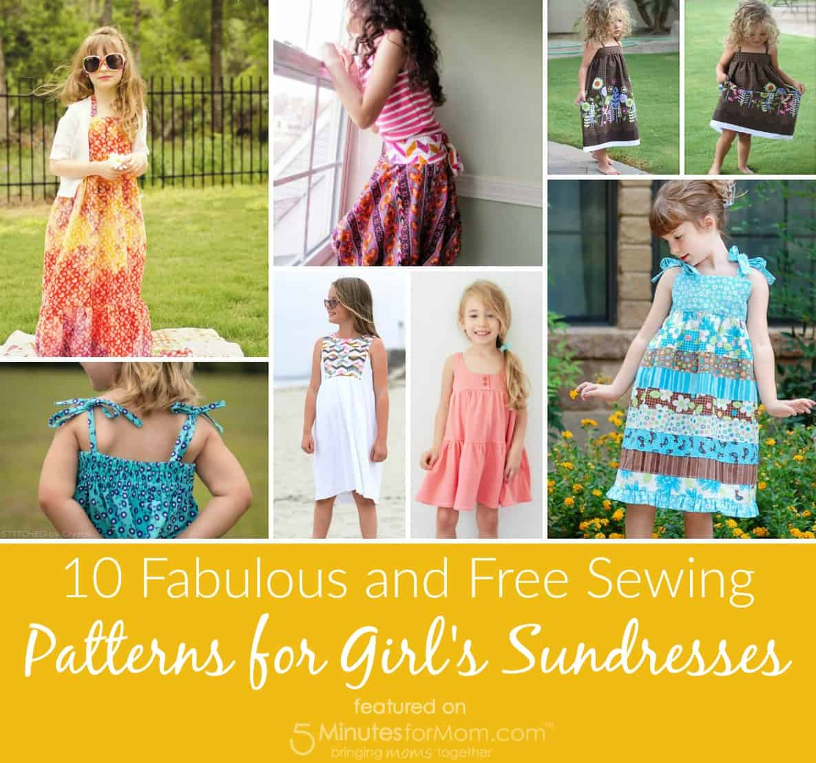 Sewing Patterns Sundresses for Girls