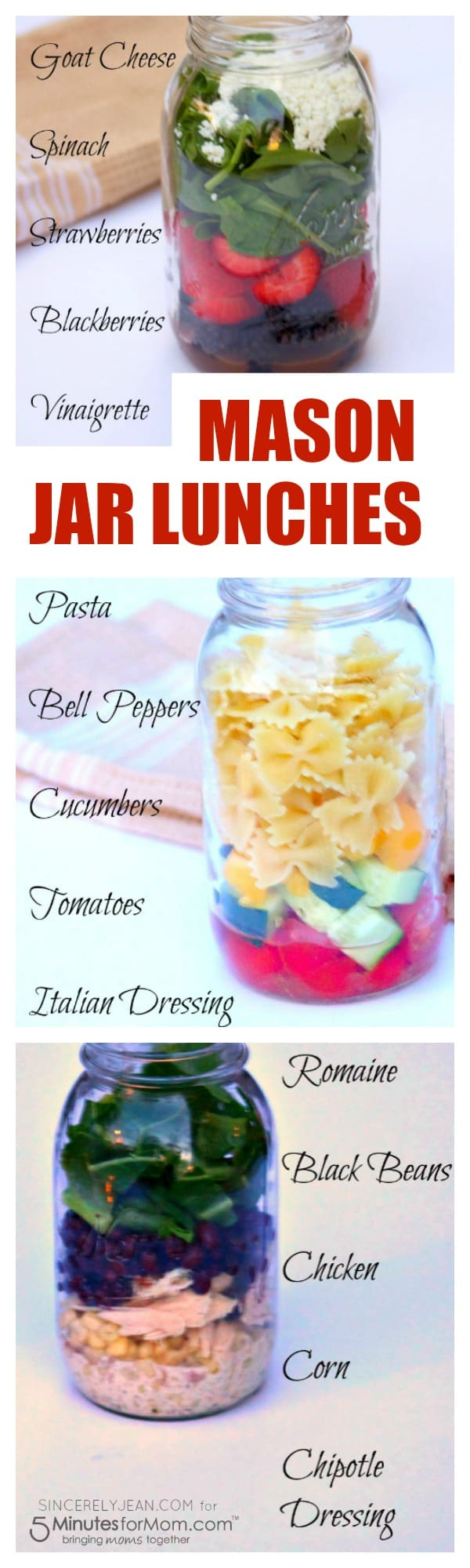 Simple Lunches Mason Jar Salads