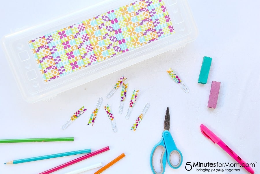 bright and colorful back to school supplies for girls
