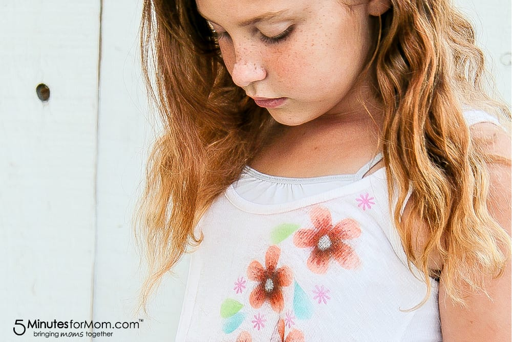 DIY airbrush flower shirts for girls