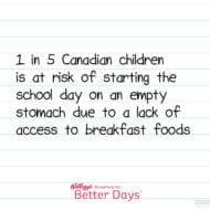 Help End Childhood Hunger in Canada #FeedingBetterDays