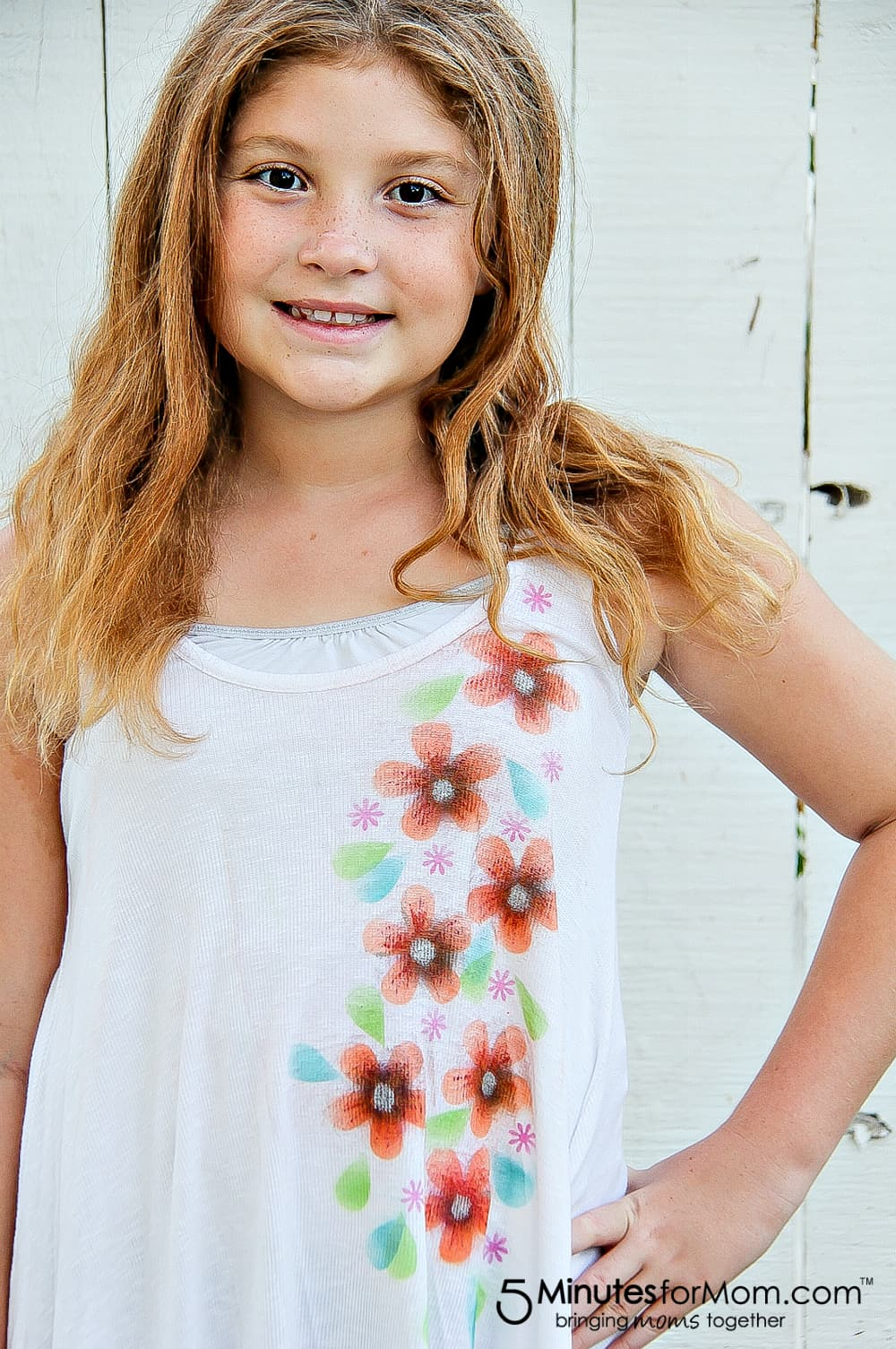 How to make custom airbrush flower shirts for little girls