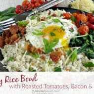 Hearty Rice Bowl with Roasted Tomatoes, Bacon & Spinach Recipe