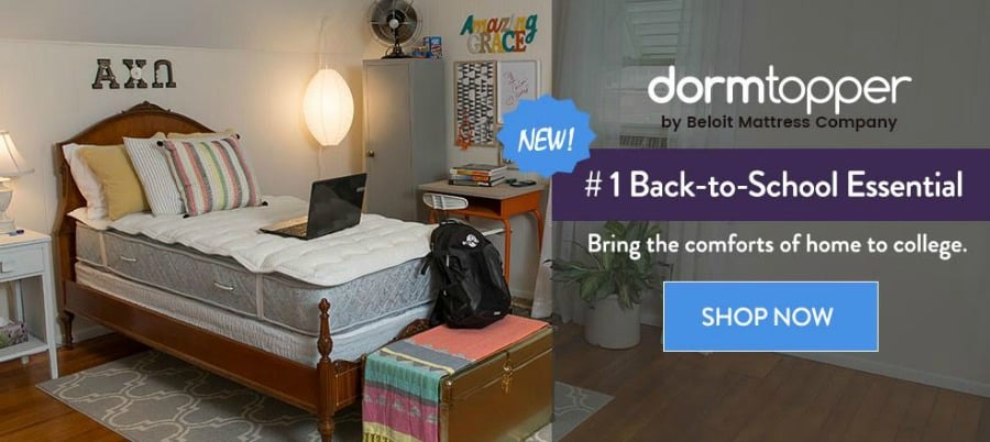 save-20-on-dormtopper-using-code-5minutes