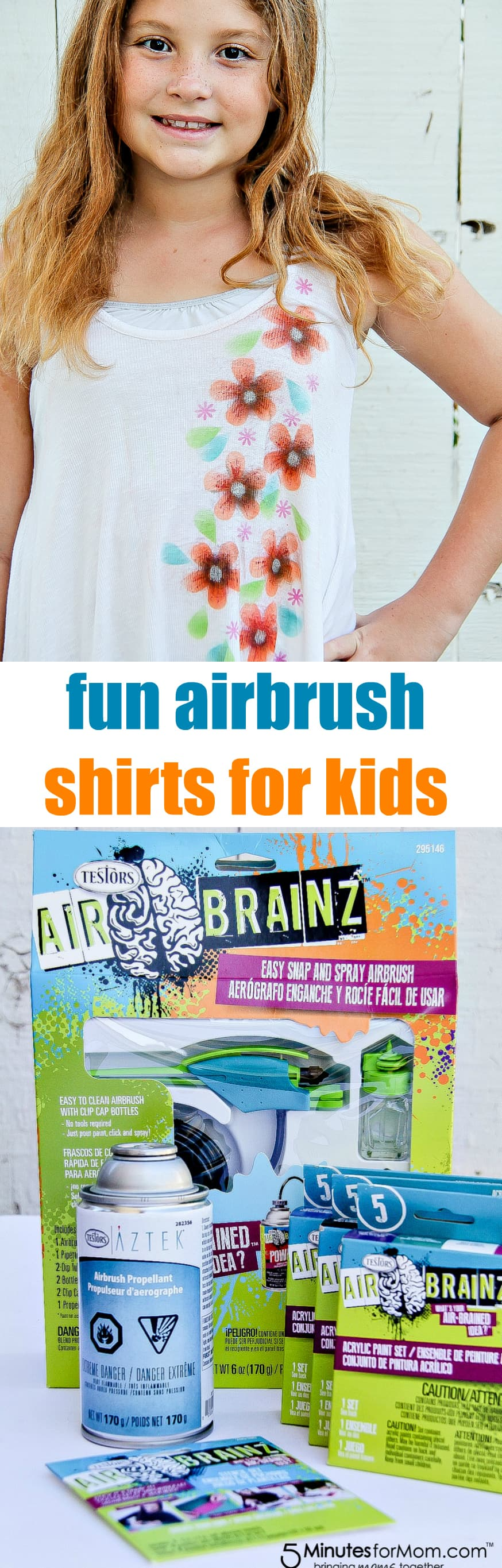 Testors AirBrainz Airbrush kits are perfect for kids who want to make customized shirts and accessories for back to school.