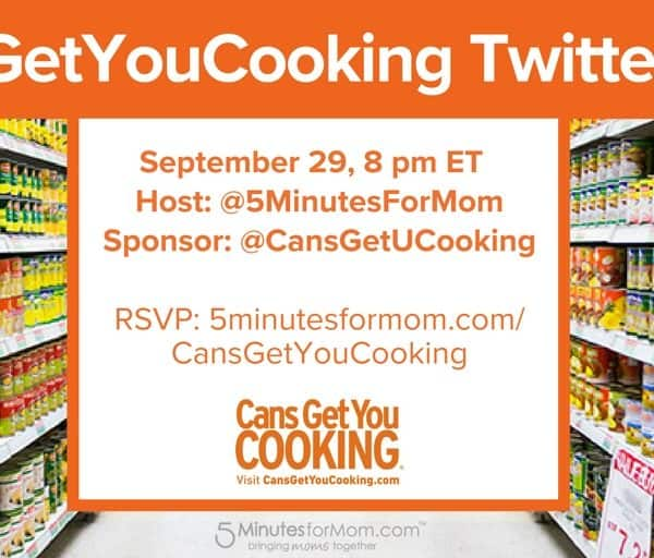 Join us for a Fall Harvest Twitter Party Sep 29, 8pm ET #CansGetYouCooking