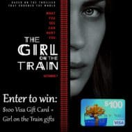 The Girl on the Train in Theaters Now! See it with a $100 Visa Card #Giveaway
