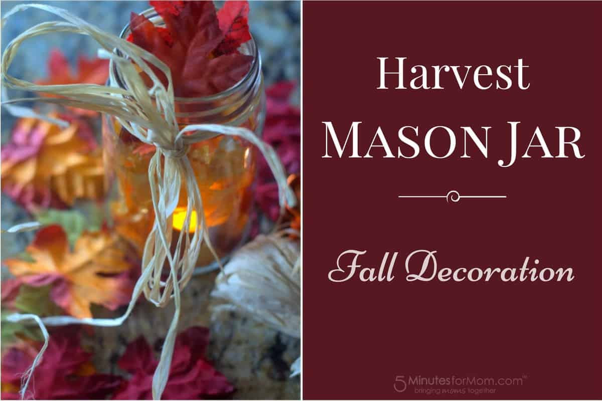 Harvest Mason Jar - DIY Fall Decoration