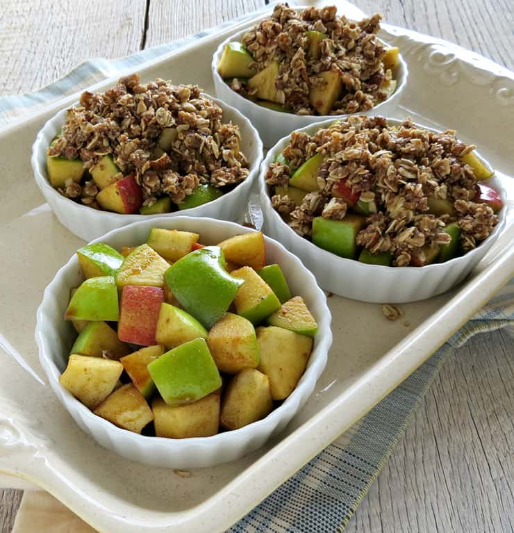 Gluten Free Apple Crisp with Oats and Almonds