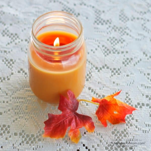 Simple DIY Fall Candle