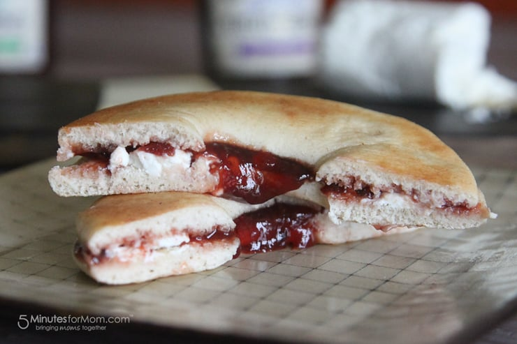 Smucker's Fruit and Honey Fruit Spread is sweetened with honey. So simple and so good.