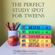 The Perfect Study Spot for Your Tween #BigFatNotebooks