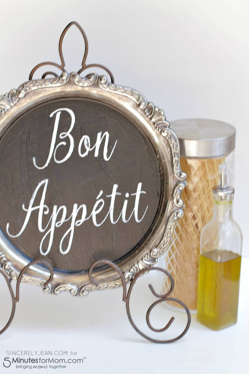 DIY Bon Appetit Kitchen Sign