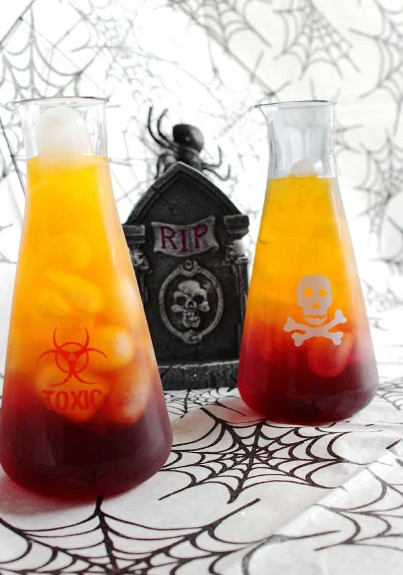 spooky halloween drink