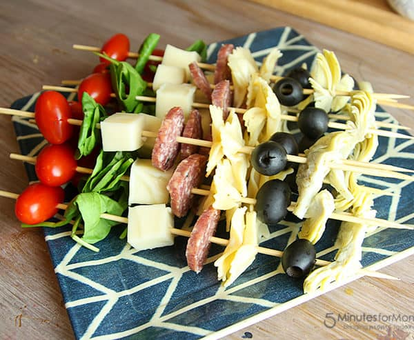 Antipasto Skewers Appetizer Recipe
