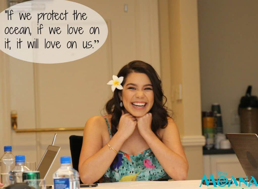 "Auli'i Cravalho Quote: ""If we protect the ocean, if we love on it, it will love on us."""