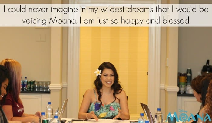 Auli'i Cravalho Quote: I could never imagine in my wildest dreams that I would be voicing Moana. I am just so happy and blessed.