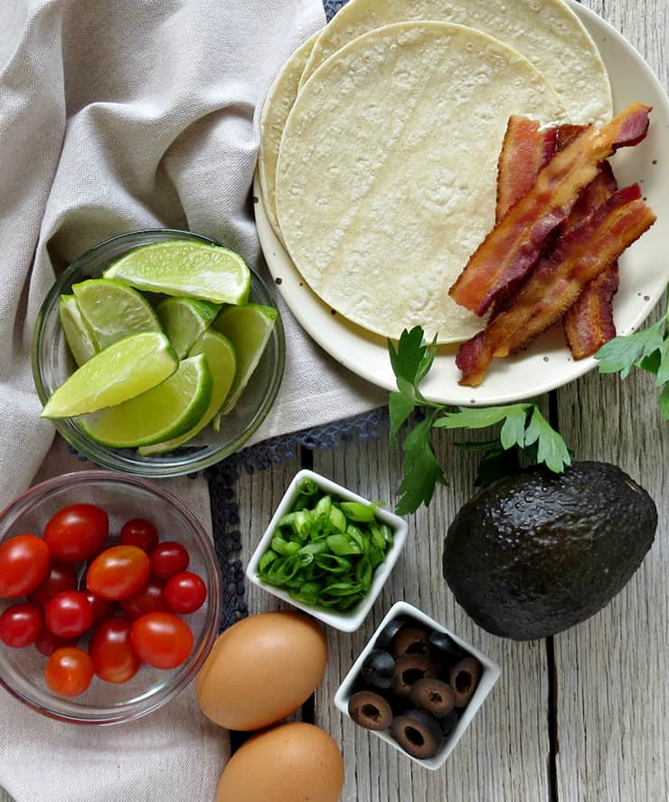 Avocado and Bacon Breakfast Tacos. These breakfast tacos are quick and easy delicious and loaded with protein!