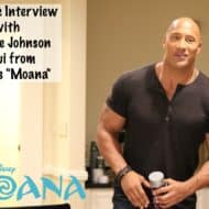 """Moana"" Interview with Dwayne Johnson – #MoanaEvent"