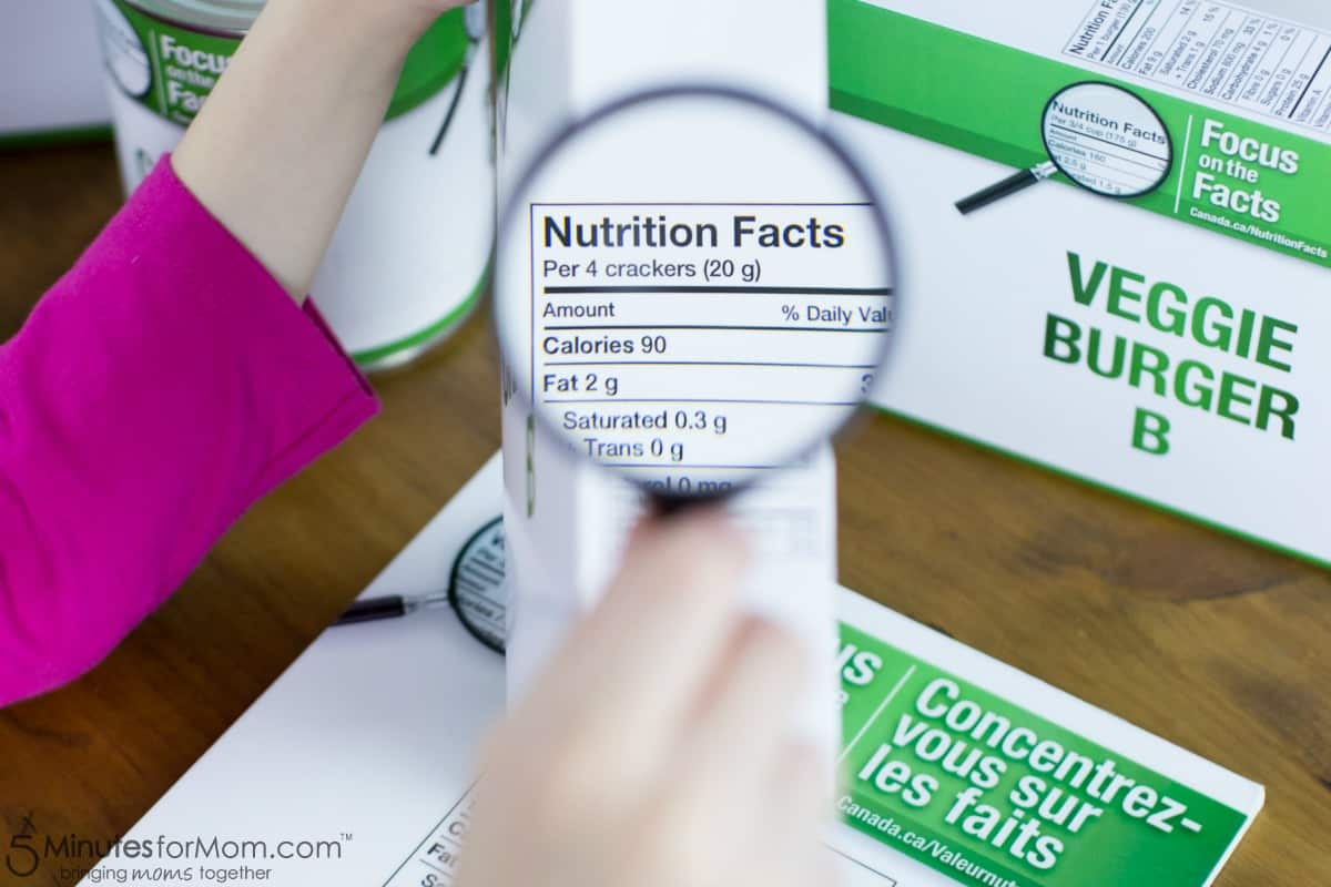 Focus on the Facts - Nutritional Facts Table