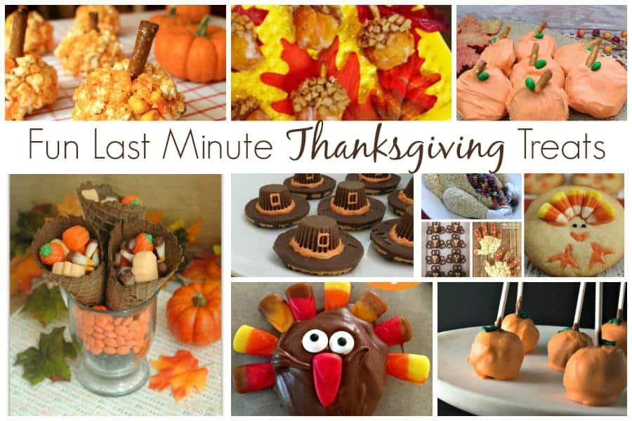 Fun Last Minute Thanksgiving Treats Recipes