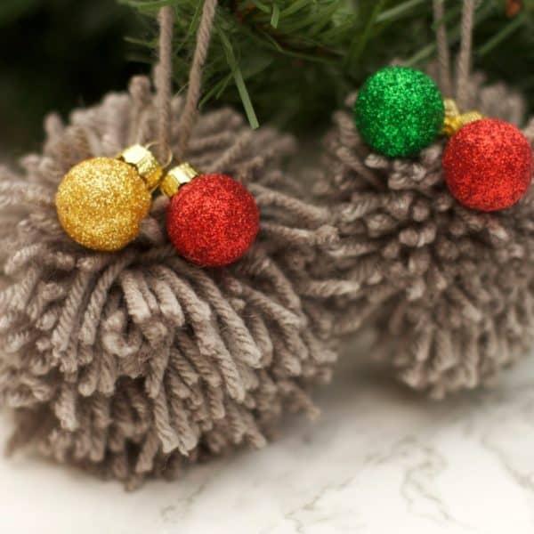DIY Pom Pom Ornament Tutorial – Easy Christmas Craft