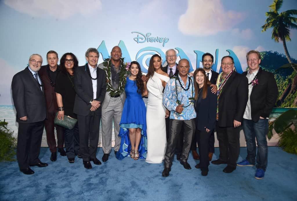 "The World Premiere of Disney's ""MOANA"" - Cast Photo"