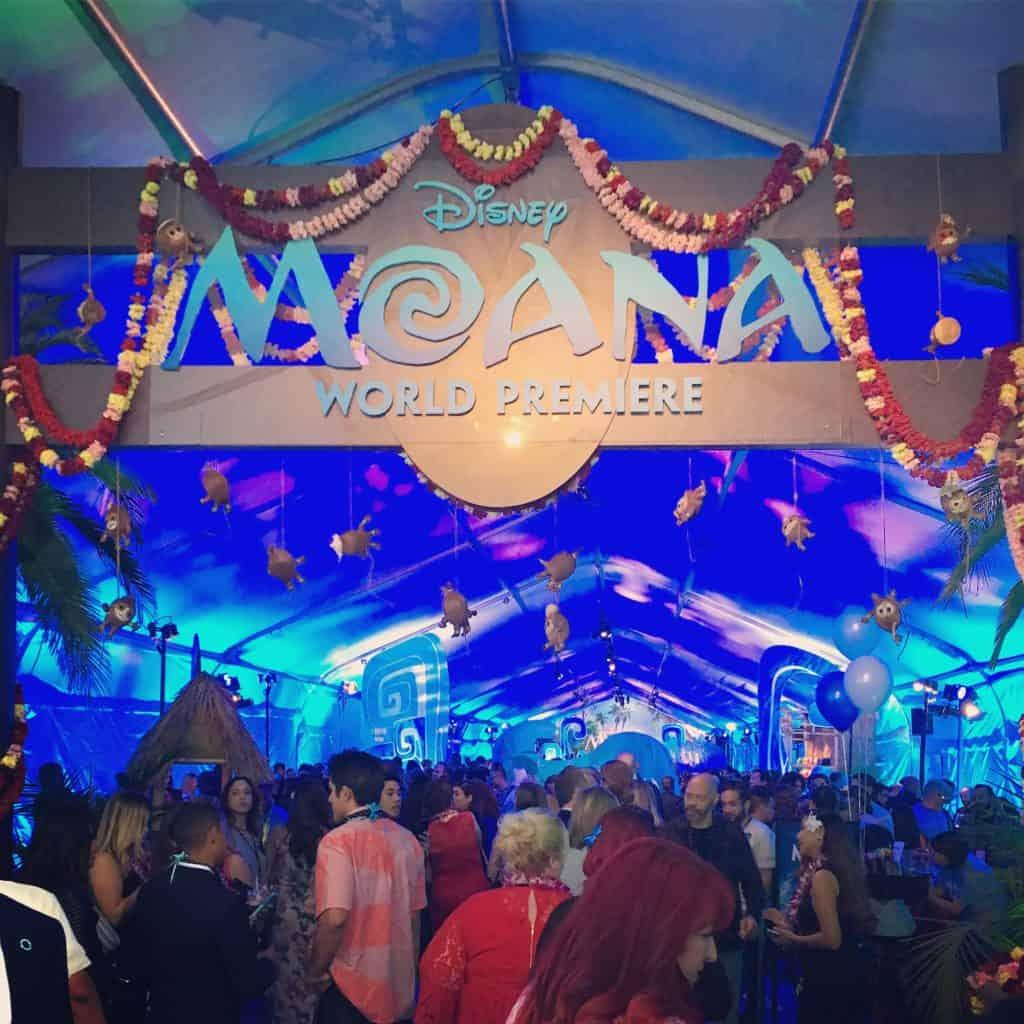 Moana Premiere Party Entrance