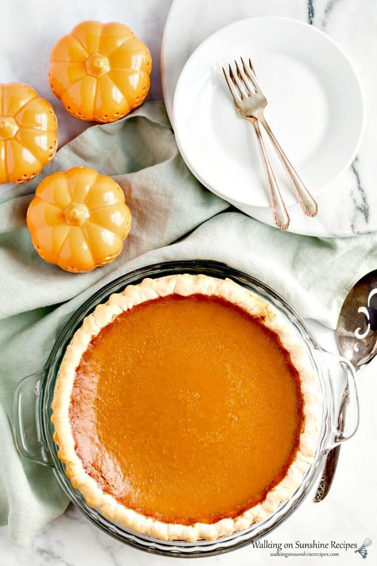 Pumpkin-Pie-baked-from-Walking-on-Sunshine