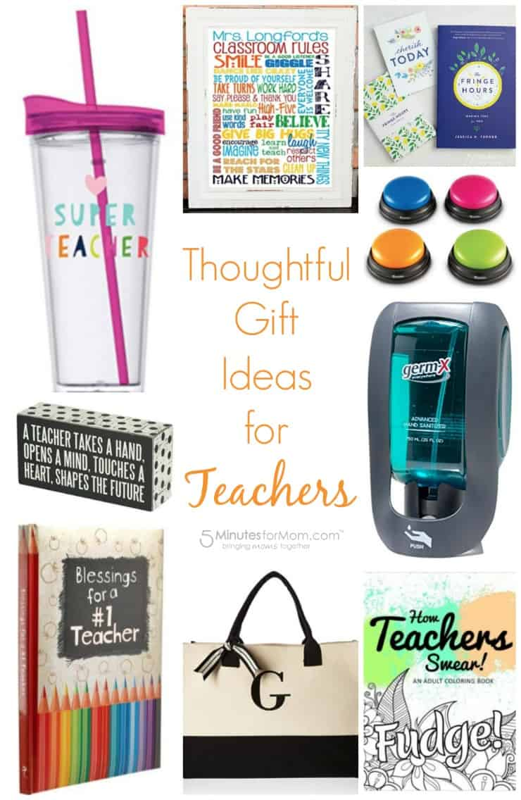 Thoughtful gift ideas for teachers