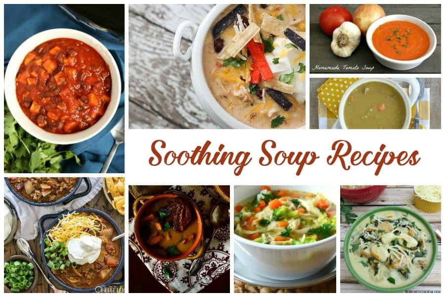 Soothing soup recipes