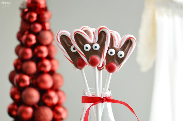 Candy Cane Reindeer Pops From Finding Zest 5 Minutes For Mom
